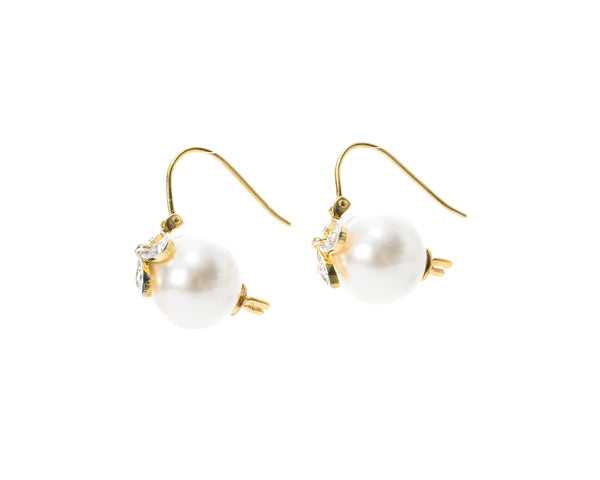 Athena Pearl Drop Earrings (Starburst)
