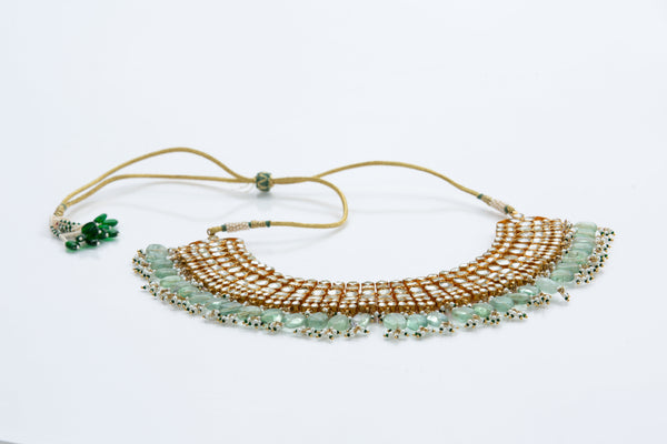 Portia Necklace (Kundan Fluorite Detail)