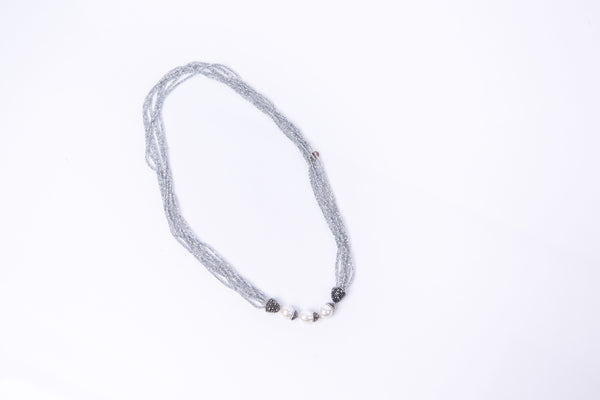 Nina Necklace (Pearl & Quartzite)