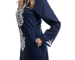 Pune Kaftan Dress (Navy)