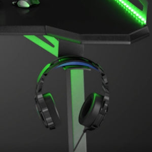 bureau gamer aerone dragon pro porte casque audio