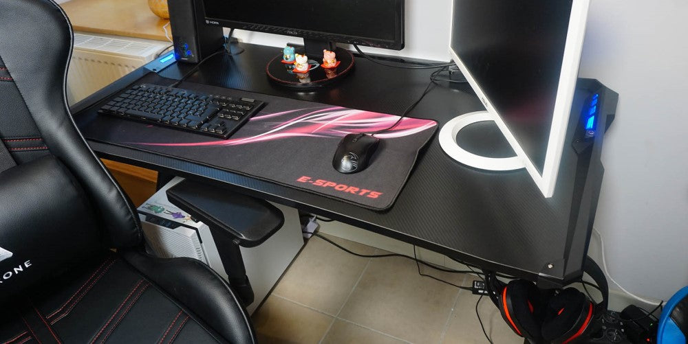 setup gaming bureau aerone cable management