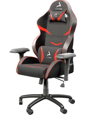 Fauteuil gamer rouge silver series Aerone coussins
