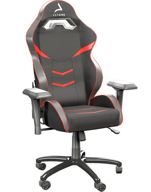 Fauteuil gamer rouge silver series Aerone accoudoirs