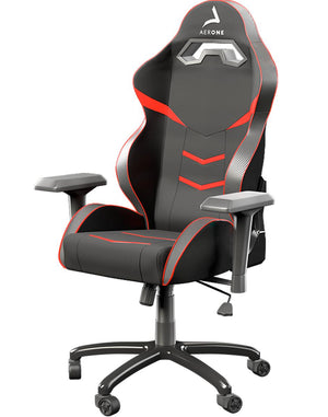 Fauteuil gamer rouge silver series Aerone angle