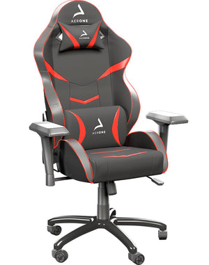 Fauteuil gamer rouge silver series Aerone face