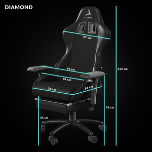 taille siege gaming diamond noir aerone