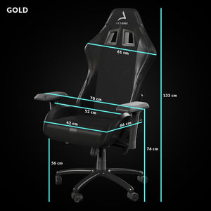 taille siege gaming gold void noir aerone