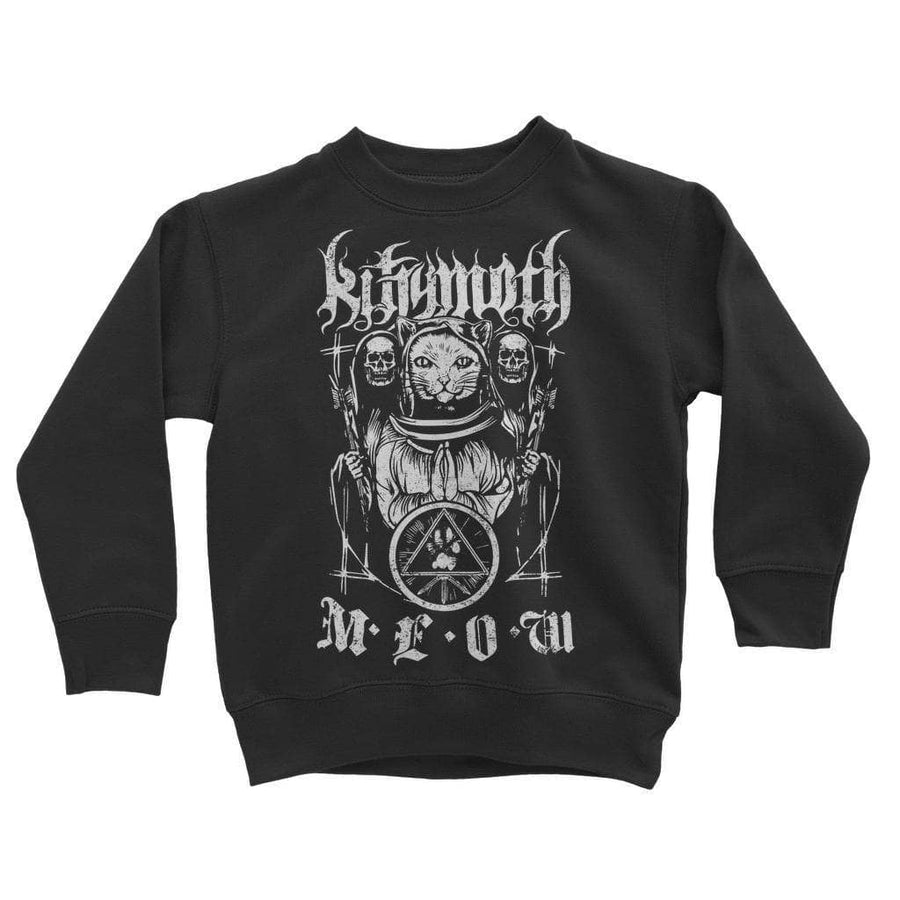 Brutal Kittens Kittymoth MEOW Kids Sweatshirt