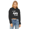 Cat Flag Women's Cropped Raw Edge Hoodie