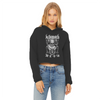 Kittymoth MEOW Women's Cropped Raw Edge Hoodie