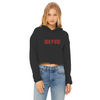 ME/OW Women's Cropped Raw Edge Hoodie