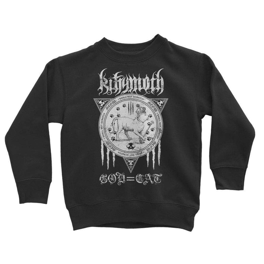 Brutal Kittens Kittymoth God=Cat Kids Sweatshirt