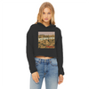 System Of A Meow Women's Cropped Raw Edge Hoodie