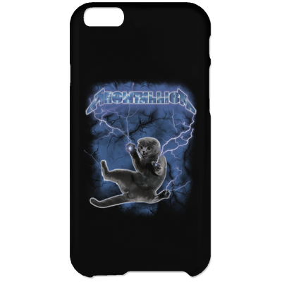 Meowtallica Hide From The Lightning Phone Case-Apparel-Brutal Kittens