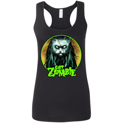 Cat Zombie Tank Top-Apparel-Brutal Kittens