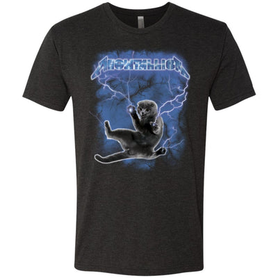 Meowtallica Hide From The Lightning T-Shirt-Apparel-Brutal Kittens