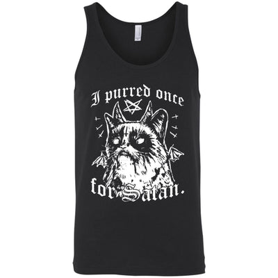 I Purred Once For Satan Tank Top-Apparel-Brutal Kittens
