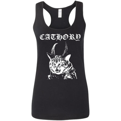 Cathory (white) Tank Top-Apparel-Brutal Kittens