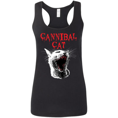 Cannibal Cat Tank Top-Apparel-Brutal Kittens