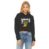 Cat Sabbath Vol 4 Women's Cropped Raw Edge Hoodie