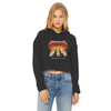 Master Of Kittens Women's Cropped Raw Edge Hoodie