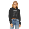 Purrgatory Women's Cropped Raw Edge Hoodie-Apparel-Brutal Kittens