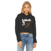 Cat Sabbath - Fallen Angel Women's Cropped Raw Edge Hoodie