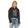Cat Division Women's Cropped Raw Edge Hoodie