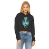 Ghost Cat Women's Cropped Raw Edge Hoodie