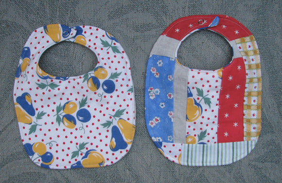 Colourful Baby Bib Pair