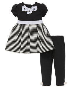 Striped Dress & Legging Set
