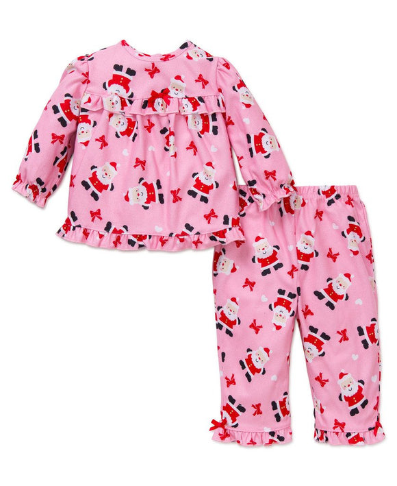 Girls Santa Pajama Set