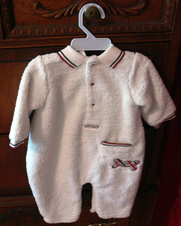 White Cotton Baby Onesie