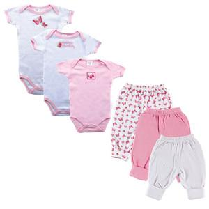 6-PIECE GROW WITH ME BABY CLOTHING GIFT SET