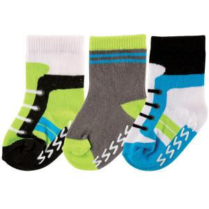 LUVABLE FRIENDS 3-PACK NON SKID SHOE SOCKS