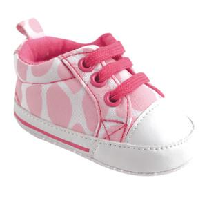 LUVABLE FRIENDS BASIC CANVAS SNEAKER, PINK GIRAFFE