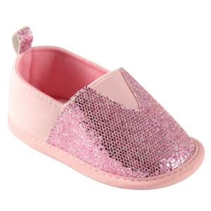 LUVABLE FRIENDS GIRLS SPARKLY SLIP-ON, PINK