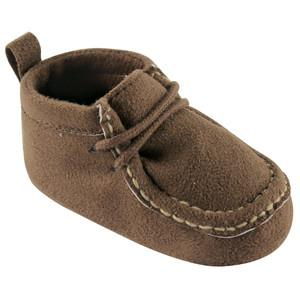 LUVABLE FRIENDS WALLABEE INSPIRED BOOT, BROWN, 0-6 MONTHS