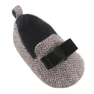 LUVABLE FRIENDS TWEED SLIPPER FLAT, GREY/BLACK, 0-6 MONTHS