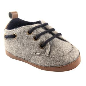 LUVABLE FRIEND WOOLY SNEAKER, CHARCOL, 0-6 MONTHS