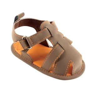 LUVABLE FRIENDS FISHERMAN'S SANDAL, TAN, 0-6 MONTHS