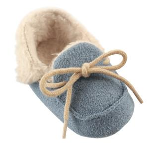 LUVABLE FRIENDS COZY MOCCASIN SLIPPER, BLUE