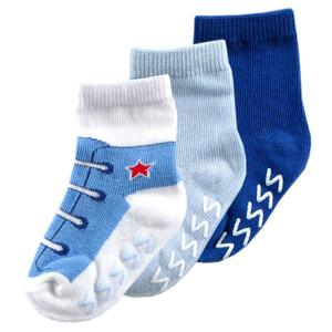 LUVABLE FRIENDS 3 PACK SHOE SOCKS