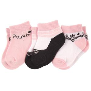 LUVABLE FRIENDS 3-PACK SHORT CREW SOCKS