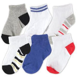 6-PACK NO-SHOW STRIPED SOCKS