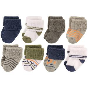 LUVABLE FRIENDS NEWBORN SHOE SOCKS, 8 PAIR, AZTEC