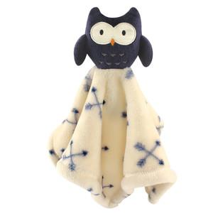 ANIMAL FRIEND PLUSHY SECURITY BLANKET, OWL