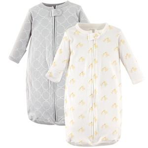 HUDSON BABY LONG SLEEVE COTTON SLEEPING BAG, 2 PACK, LITTLE DUCKS