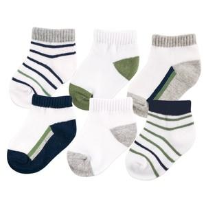 YOGA SPROUT NO SHOW 6 PACK ANKLE SOCKS